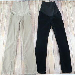 LOFT Size 2 M Bundle 2 Pairs Maternity Pants